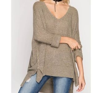 She + Sky pullover knit sweater
